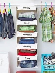 organise clothing